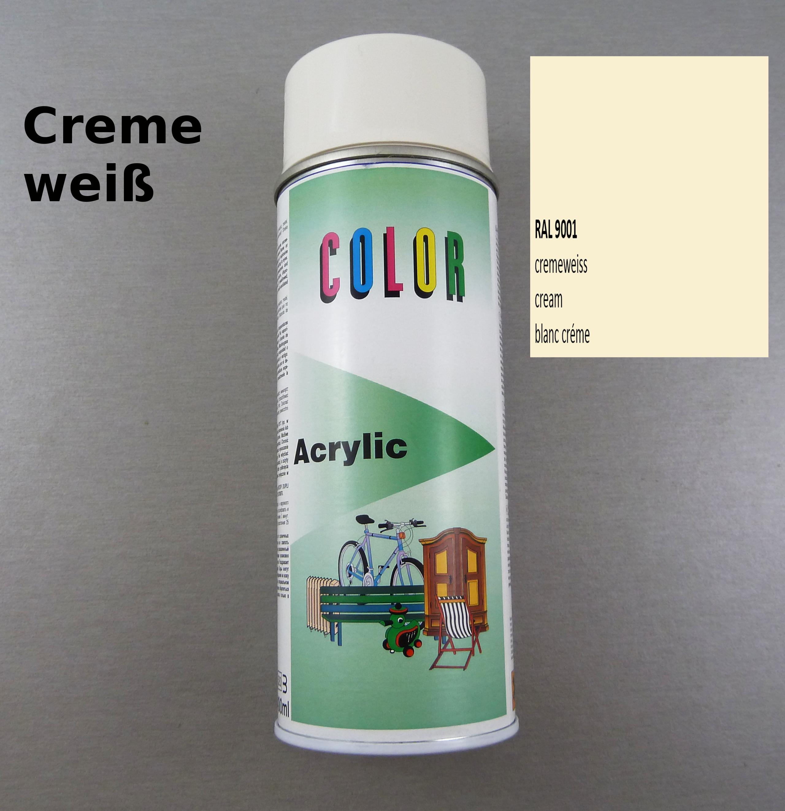 400ml lackspray ral 9001 spraydose sprühlack sprühfarbe cremeweiß