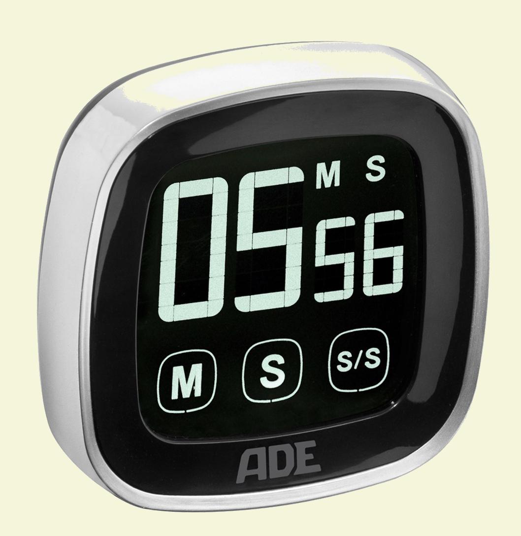 ADE TD 1302 Digitaler Küchen-Timer Touch-Screen Stoppuhr Eier-Uhr ...